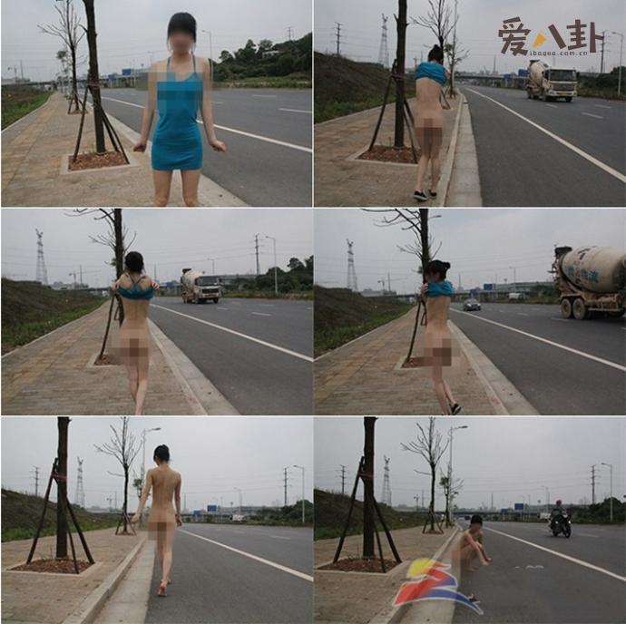 上海闹市裸拍门怎么回事 年轻女子公然在街头拍裸照