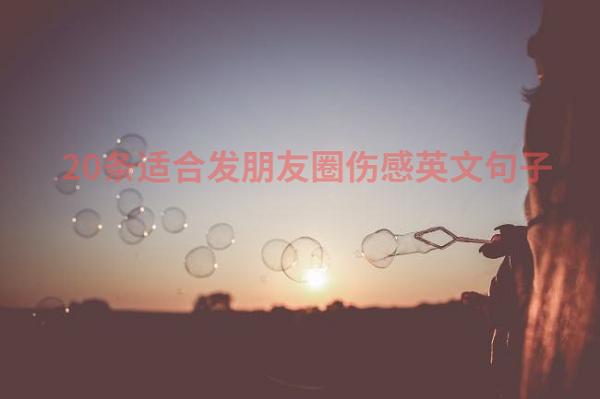 20条适合发朋友圈伤感英文句子带中文翻译